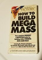 How to build Mega Mass by Joe Weider Bodybuilding Mr. Olympia Vhs New rare