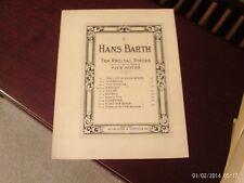 Hans Barth: Menuet, piano solo (Schroeder & Gunther)