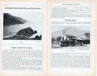 Corse Renseignements Généraux  1912 photos + guide (18 p.) Chemins de Fer Porto