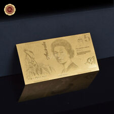 WR 2002-2016 Australian $5 Five Dollar Notes 24K Gold Plated Banknote Collection