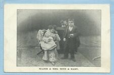 [Ref.324] Major & Mrs Mite & Baby Vintage Postcard Midgets