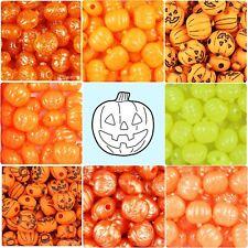 BeadTin 20mm Jack O Lantern / Halloween Pony Beads (24pcs) - Choice of styles