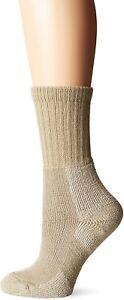 Thorlos Women's 179321 Kxw Max Cushion Hiking Crew Socks Khaki Size L
