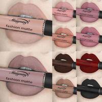 Waterproof Lipstick Long Lasting Matte Liquid Lip Gloss Cosmetics Makeup Beauty
