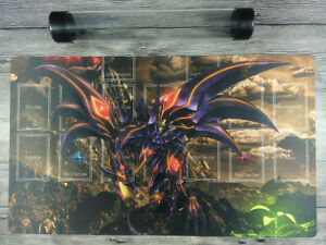 YuGiOh Red-Eyes Darkness Dragon Master Rule 4 Zones Custom TCG Playmat Free Tube