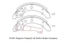 Drum Brake Shoe-Drum Rear Dash 4 Brake B559