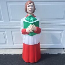 "Rare! TPI Blow Mold Choir Girl! 41"" Tall! Lighted Outdoor Christmas Nativity!"