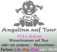 Baby Mädel Scheiben - Aufkleber  mit  Wunsch - Text  Auto Caravan Truck Boot