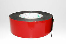 50mmx 10M Black Strong  Black Adhesive Double Side Foam Tape Car Trim Plate A176