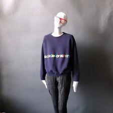 80s Benetton Rainbow 🌈  Letter Sweatshirt Vintage 80's United Colors Sz M 1980s