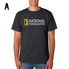 R 0152 NATIONAL PORNOGRAPHIC Porn Sex Geographic Animals T-shirt Tee Funny Top