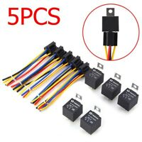 40A 12V 5Pin Changeover Relay Automotive Car Truck Van Connector w/Wires Socket
