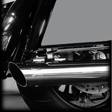 "RC Components Chrome Slash Down Cut 4.0"" Mufflers 2017 & Up Harley Touring"