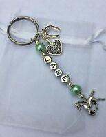 Personalised Horse Keyring - Equestrian Charms With Gift Bag