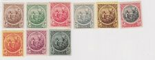 (K170-40) 1916 Barbados part set of 9stamps KGV 1/4d to 1/- MH (AO)