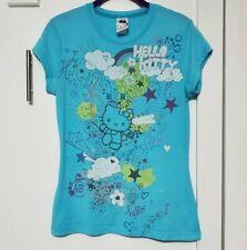 2007 MIGHTY FINE Sanrio Hello Kitty Graphic t-shirt top Juniors LARGE graffiti