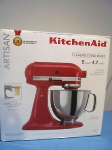 NEW KITCHENAID KSM150PSER KITCHENAID TILT HEAD STAND MIXER 10SPD 5QT BOWL RED