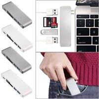 5in1 USB-C 3.0 Type-C HUB Adapter Data Sync SD/TF Card Reader For Macbook Pro