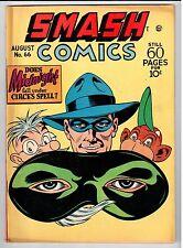 Quality Smash Comics #66 August 1946 vintage  comic VG+ condition