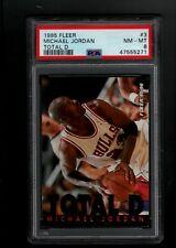 MICHAEL JORDAN CHICAGO BULLS 1995 FLEER TOTAL D #3 PSA 8 NM-MT