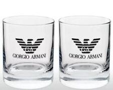 2 X GEORGIO ARMANI GLASS TUMBLERS