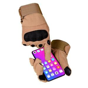 TACTICAL TOUCHSCREEN ASSAULT COMBAT HARD KNUCKLE SHOOTING GLOVES ARMY POLICE