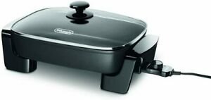 Delonghi Electric Skillet with Tempered Glass Lid - BG45 New!