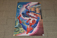 "1995 Spider Man vs Spider Man 2099 22""x 34"" Poster Vintage Marvel Bob Larkin"