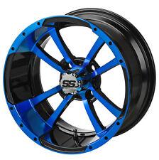 "GOLF CART 14"" BLUE/BLACK STORM TROOPER WHEELS WITH 23x10-14  TIRE (SET OF 4)"