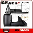 Manual Tow Mirrors For 2002-2009 Dodge Ram 1500-3500 LH+RH Black Cover