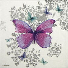 4x Paper Napkins for Decoupage Craft - Nigel Quiney: Butterfly Pattern
