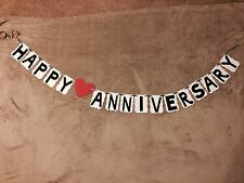 Happy Anniversary Banner. Handmade. Great For Anniversary Parties!!