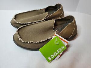 Crocs Santa Cruz Mens Loafers Slip On 10128-280 Chocolate US Size 10 M NEW