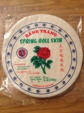 "Rice Paper for Spring Rolls Skin Wrapper Premiuim Quality 21.5cm 8.5"" 12oz"