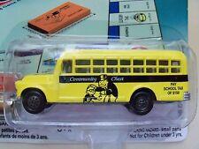 JOHNNY LIGHTNING - MONOPOLY 70TH - COMMUNITY CHEST - '56 CHEVY SCHOOL BUS