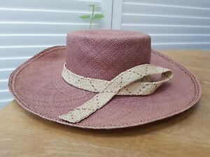 PACHACUTI toquilla straw Panama Hat Size 58 HANDMADE Woven Unlined Fair Trade
