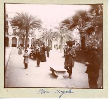 Espagne, Barcelone, place Royale Vintage silver print, Tirage argentique  7x