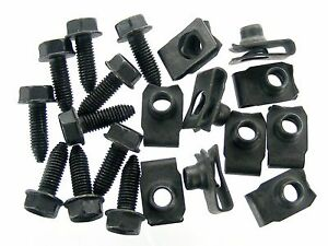 Chrysler Body Bolts & U-nut Clips- M8-1.25 x 25mm- 13mm Hex- 20pcs (10ea)- #389