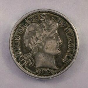1893-S 1893 Barber Dime ICG VF25