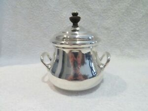 Vintage French silver-plated E Puiforcat sugar bowl