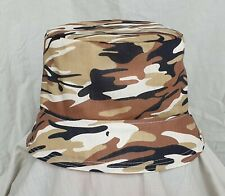 NEW REVERSIBLE DESSERT CAMOUFLAGE FESTIVAL BUCKET HAT. SUN HAT. HOLIDAYS. SZ L