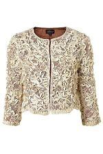 Women's Natural Lace Crop Jacket 12