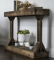 Entryway Table Console Side Wooden End Display Storage Farmhouse Rustic Modern
