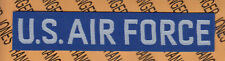 Usaf U.S. Air Force White & Blue Nylon Issued name tape patch