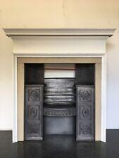 Original Restored Antique Cast Iron Georgian Hob Grate Fireplace Surround LG033