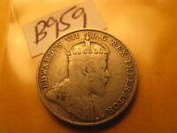 Canada 1902 H Rare Silver 10 Cent Coin ID#B959.