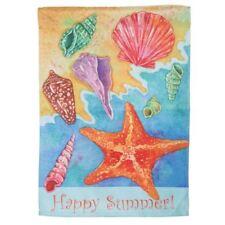 "Ocean Shells Happy Summer House Flag  28"" x 42""  - 13S3413"