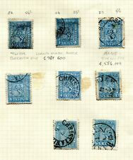 """NORWAY. 1863/1868 """"SKILL"""" STAMPS. OLD TIME SELECTION OF 31 SCARCE SHADES/PAPERS:"""