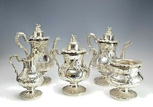 Gorgeous 19C American Sterling Silver Tea / Coffee Service George Sharp