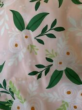 1 Yards Quilt Cotton Fabric - Spring Modern Pink Green Flowers